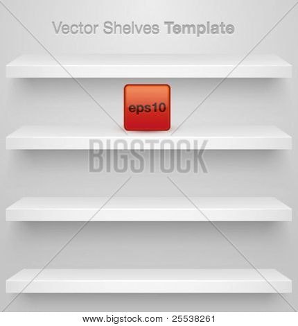 Vector shelves for your design. Easy to edit.