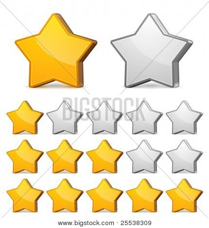 Vector star rating