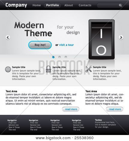 Modern vector website template for your product.