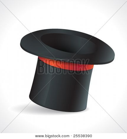 Sombrero mágico del vector.