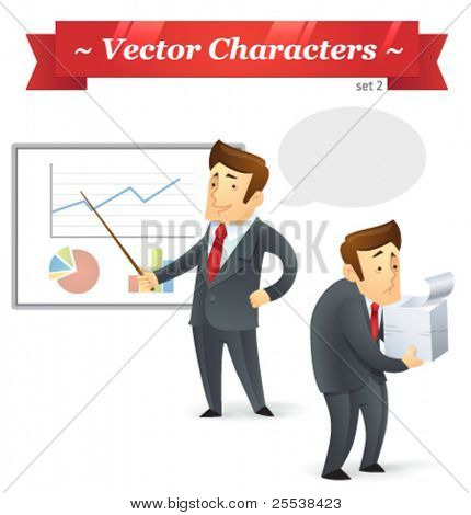 Vector characters. Business Set 2.