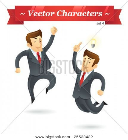 Vector characters. Business Set 4.