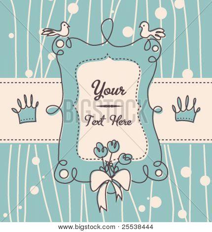 Cute vector post card/