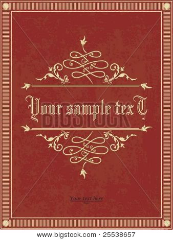 Vertical vintage background for Book cover