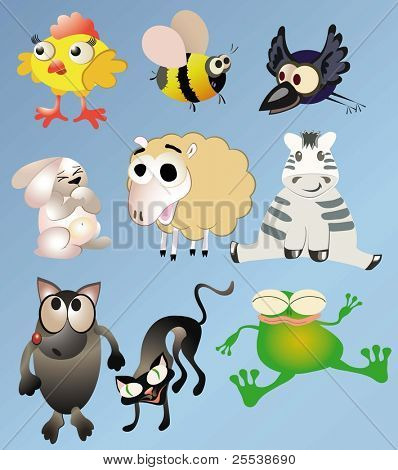 conjunto de animal de Vector