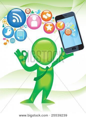 TELEPHONE-man.Social-Media.The development of global communications