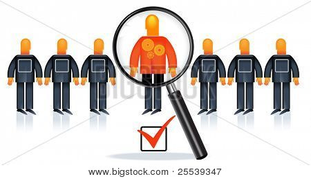 People Recruitment.the choice of people for work. selection of expert. search for specialists