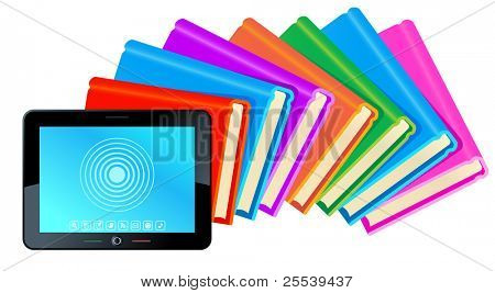 tablet book.the transformation of paper books in e-book
