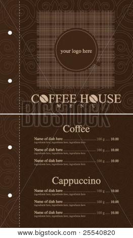Vector. Coffee house menu. Full design