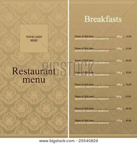 Restaurant menu full design