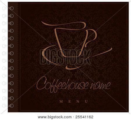 Design menu. Concept for coffeehouse, a metal spring.