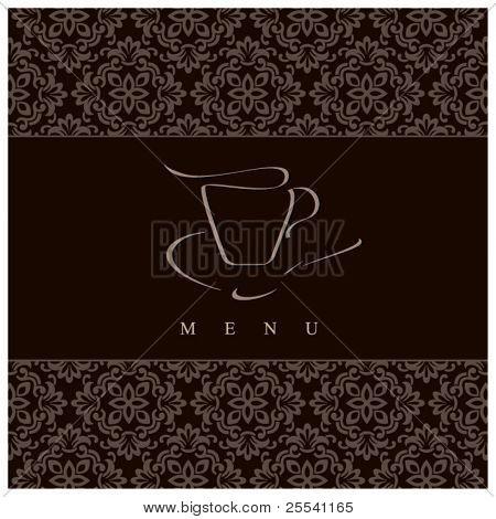 im Menü Gestaltung. Konzept für Kaffeehaus