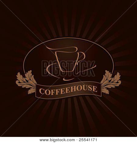 Coffeehouse label design