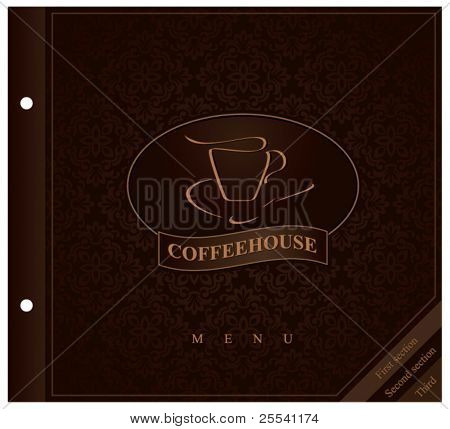 Design menu. Concept for coffeehouse