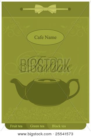 Design teatime menu for cafes and restaurants