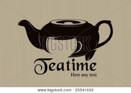 Vector. Teatime label design