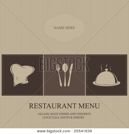 Vector. Design do menu de restaurante