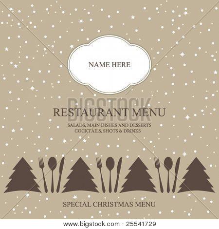 Vector. Special Christmas menu design.