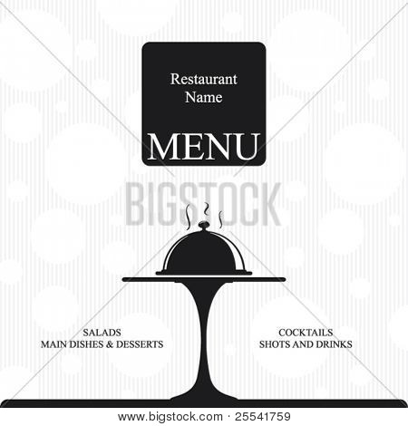 Vector. Restaurant menu design. Two colors