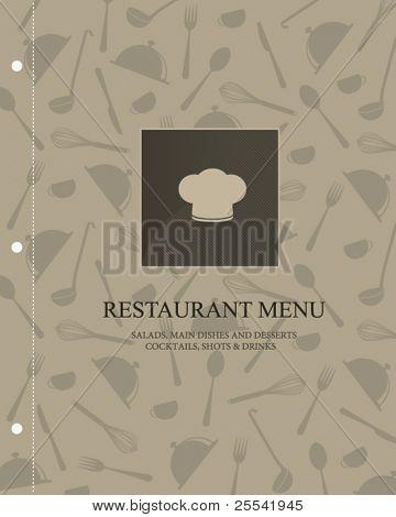 Vektor. Restaurant-Menü-design