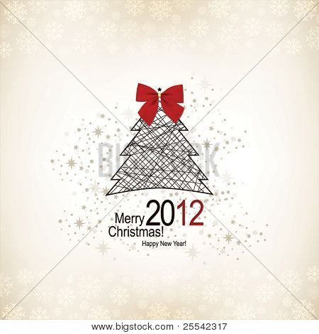 Christmas & New Year. Vector greeting card