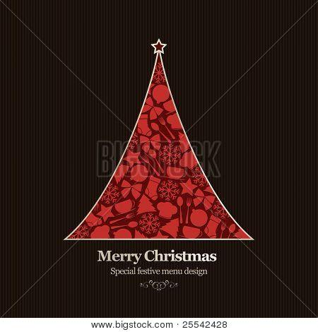 Vector. Special Christmas restaurant menu