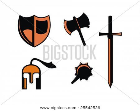 Warrior symbols. Vector illustration.