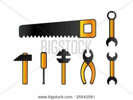 Toolkit. Vector illustration.