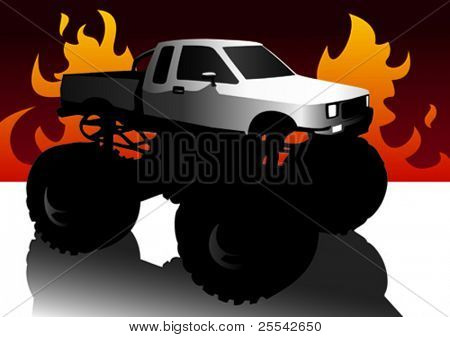 Monster truck. Vector illustration.