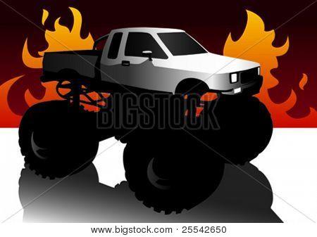 Monster truck. Vector illustration.