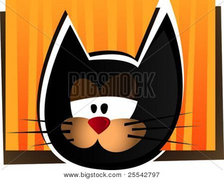Funny cat. Vector illustration.