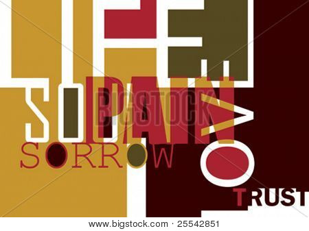 Poster with typography. Vector illustration.