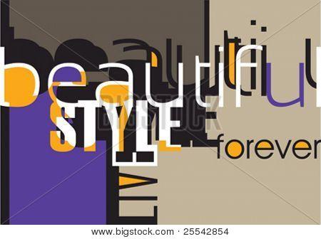Fundo projetado com tipografia. Ilustração vetorial.