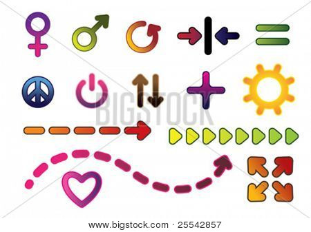 Symbols. Vector illustration.