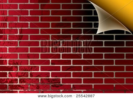 Brick wall. Vector illustration.