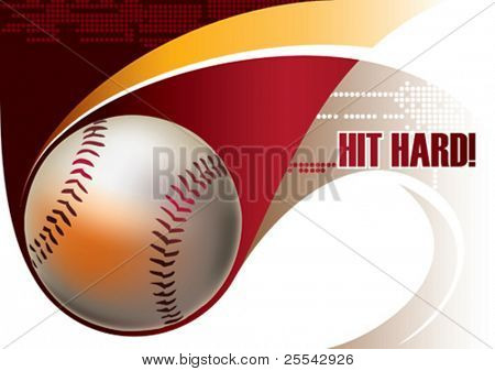 Cartel de béisbol. Ilustración del vector.