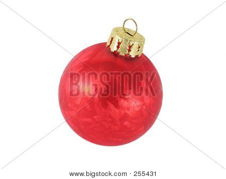Red Christmas Ornament Isolated.