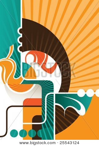 Colored abstract background. Vector illustration.