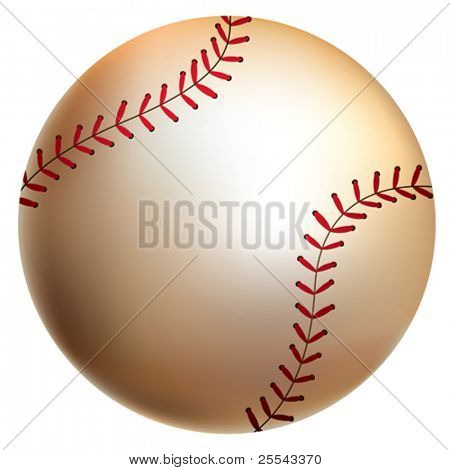 Isolated baseball ball. Vector illustration.