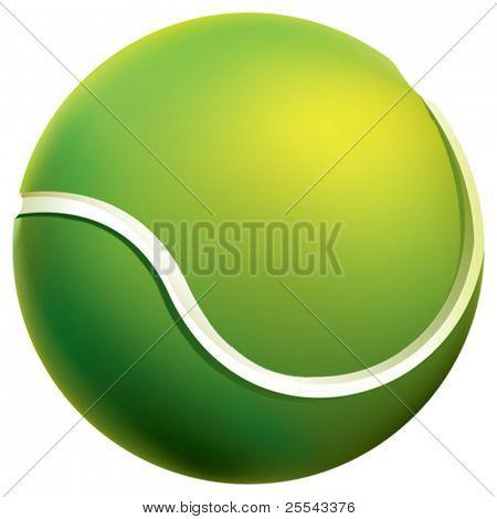 Isolated tennis ball. Vector illustration.
