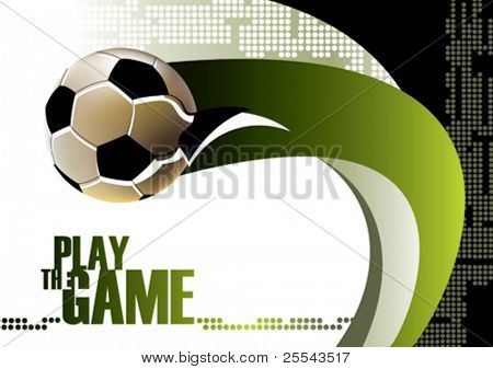 Football poster background. Vector illustration.