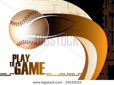 Fundo do cartaz de beisebol. Ilustração vetorial.