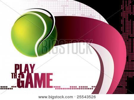 Tennis poster background. Vector illustration.