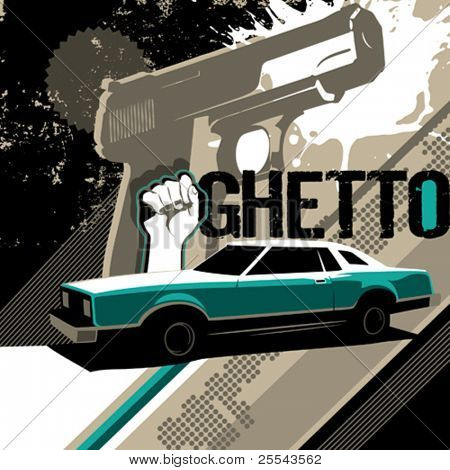 Ghetto artistic background. Vector illustration.
