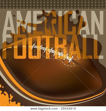 Designed american football banner. Vector illustration.