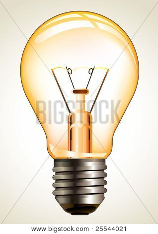 Bulb isolated on white. Vector illustration.
