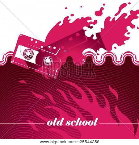 Artistic banner with modern designed graphics. Vector illustration.