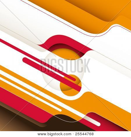 Conceptual stylish background with designed shapes. Vector illustration.
