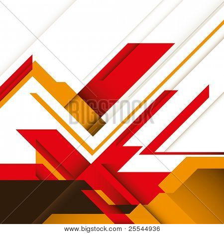 Creative futuristic graphic with designed abstraction. Vector illustration.