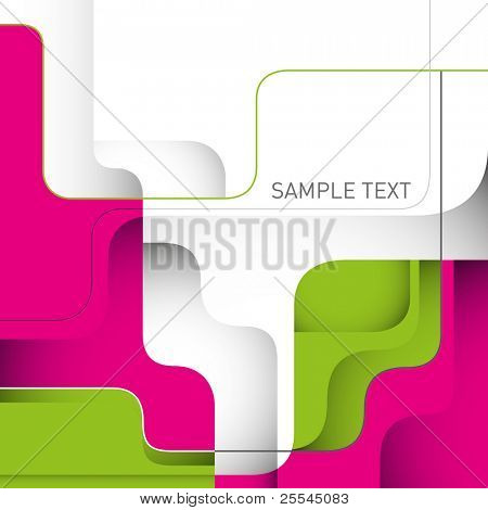 Stylish designed layout with modern shapes. Vector illustration.